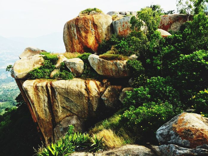 Rock - Object Nature Rock Formation Tranquility Tranquil Scene Scenics Day Beauty In Nature No People Outdoors Mountain Plant Tree Water Sky
