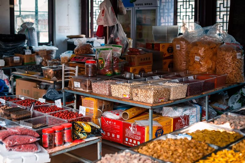 Variation Market Choice Retail  For Sale Food Market Stall Food And Drink Large Group Of Objects Arrangement Day Abundance Small Business Store Freshness No People Business Retail Display Spice Healthy Eating