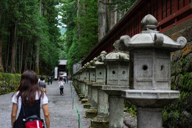 Nikko Tokyo Rear View Real People Architecture Women Leisure Activity Built Structure Group Of People Tree People Men Railing The Way Forward Bridge Walking Nature Incidental People Lifestyles Plant Adult Day