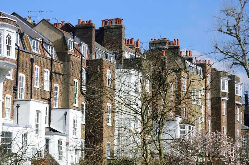 Residential street in London Building Exterior Architecture Built Structure Building City Residential District Outdoors London Street Victorian Architecture Victorian