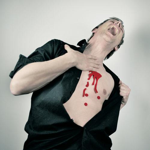 Kunstblut Blut Fake Getroffen Romeo And Juliet Schreien