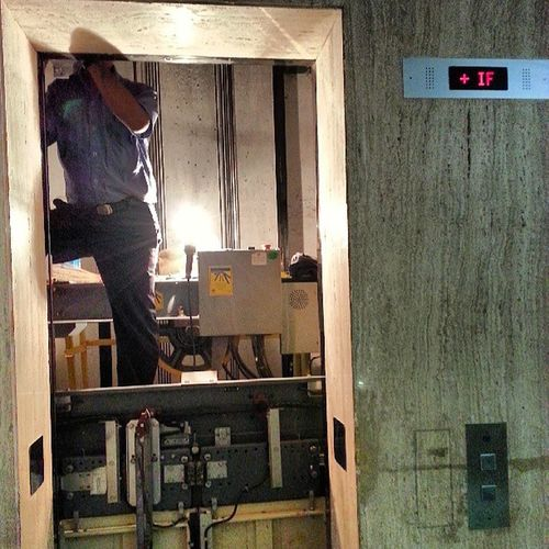 All in a day's work! Lift Elevator Repair Otis Commercial Office Mumbai Rains Monsoon Electric