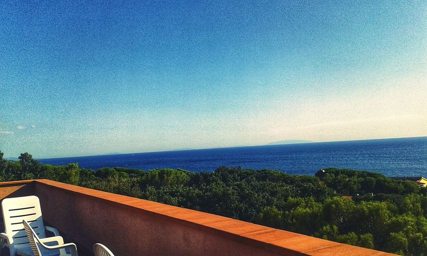 Horizon Horizonscape Horizons Sea And Sky Balcony Balcony View Balconies Balcone Terraced Field Eyem Eyem Gallery EyEmNewHere Eyemphotography Sea Lovers Sea Clear Sky Blue Sky Architecture