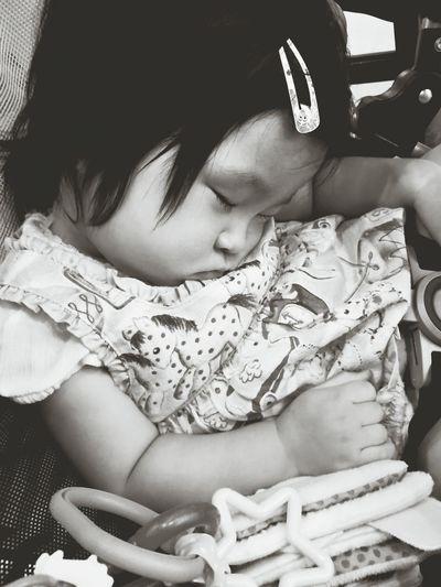 Monochrome Photography Sleeping Beauty Sleeping Baby  Sleepyhead Taking A Nap Take A Nap KAWAII Karen Daughter One Year Old Tokyo Japan Pink Color Resting