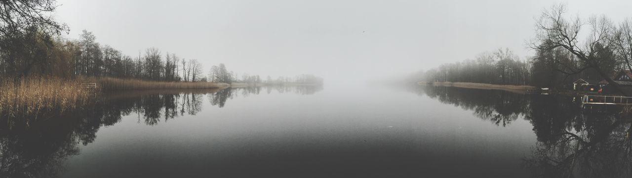 Lake Lake View Lake Shore Fog Foggy Foggy Morning Nature Winter Germany