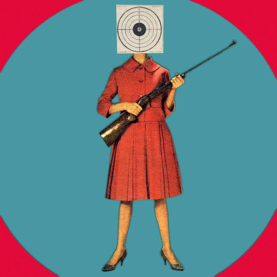50's Style Art ArtWork Circle Collage Collage Art Geometric Shape Geometry Grahic Design Pop Retro Riffle Surealism Target Target Shooting Targetpractice Vintage Woman