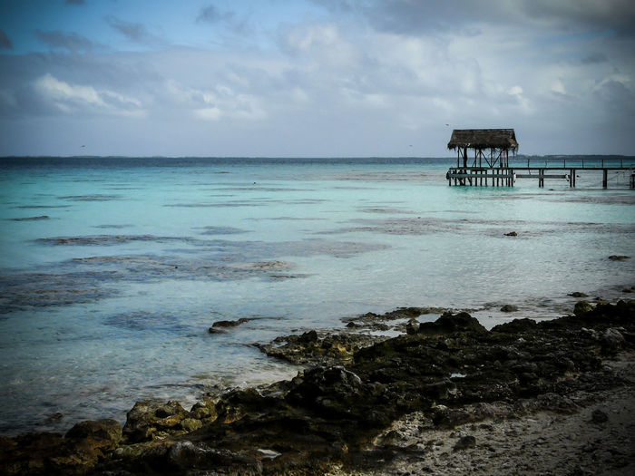 Architecture Beach Beauty In Nature Built Structure Cloud - Sky Day Fakarava Horizon Over Water Nature No People Outdoors Polynesian Scenics Sea Sky Tranquil Scene Tranquility Water Lost In The Landscape EyeEmNewHere