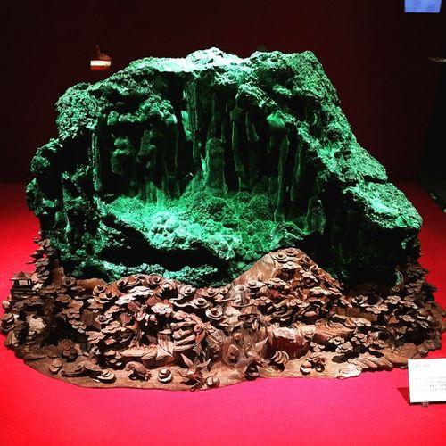 这又是宝石,孔雀石 Yangchun YangJiang GZ Guangzhou Canton 孔雀石 Malachite Cu2 (OH)2CO3 凤凰石 阳春