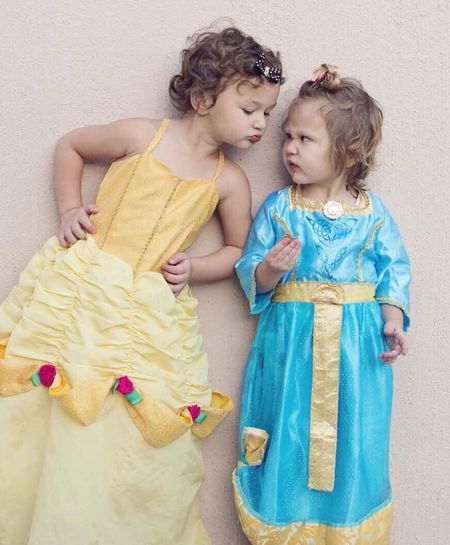 Q Q Is For Quizzical Quizzical quizzical sisters Sisters Princess Kids Portrait Fun Dress Up
