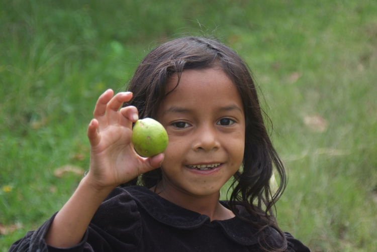 7yo With Lime Little Girl