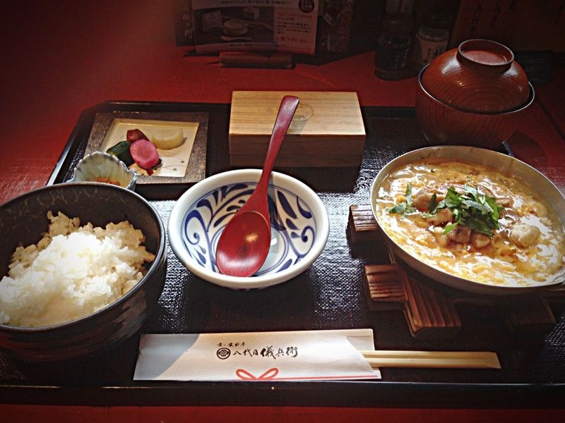 Kyoto Japan Gion Gihey Lunch Rice Oyakodon Today 京都 日本 祇園 八代目儀兵衛 米 親子丼 今日