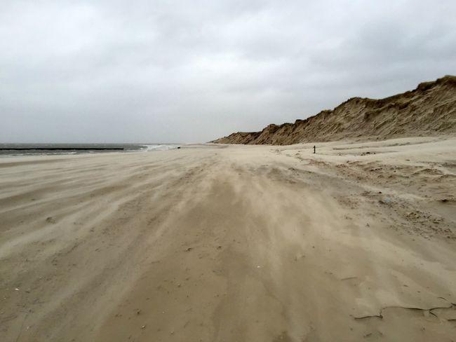 Sand Storm Beach Amrum Nature
