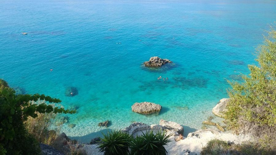 Beautiful , crystal waters from Agios Nikitas, Lefkada!! Lefkada Lefkada, Greece Lefkas Agios Nikitas Ionian Sea Tortoise Summer Greekislands Greek UnderSea Sea Beach Eyesight Aerial View High Angle View Sky Landscape Coral Turquoise Colored Sea Life Shore
