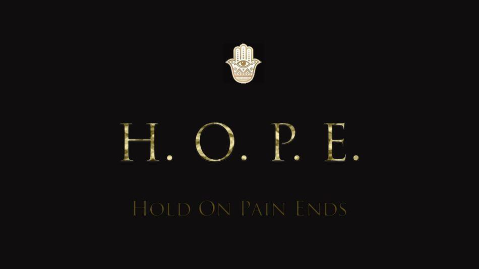 Hope Hold On Pain Ends Logo Logo Design Design