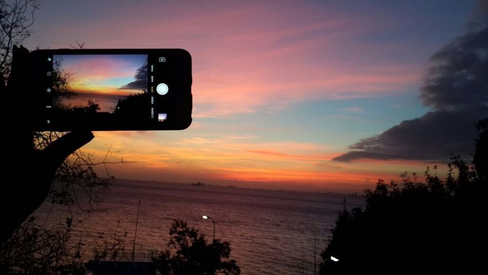 Sunset_collection Sky Sunset Nature Cloud - Sky Tree No People Water Sea Outdoors Technology Scenics Beauty In Nature Close-up Day Check This Out BestEyeemShots Night Lights Istanbul Sunset Silhouettes Istanbuldayasam Beauty In Nature Silhouette