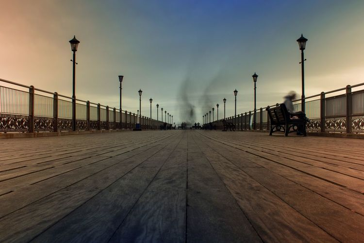Skegness Pier in a cold New Years Day. ND filter used for long exposure Nd Pier Long Exposure Sky Architecture Built Structure Outdoors Day Cloud - Sky