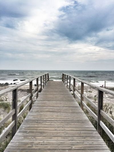 Sea Horizon Over Water Water Sky Tranquil Scene Scenics Pier Tranquility Beach Vacations Travel Destinations Nature Fire Island Long Island
