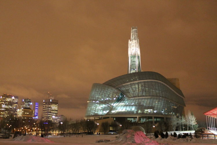 Architecture Canadian Museum For Human Rights Cirta City Life Cloudy Skies Clour CMHR Night Night Sky