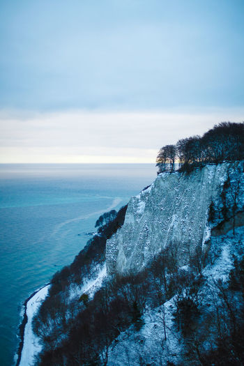 Baltic Sea Baltic Sea Winter Beach Beauty In Nature Blue Sky Day Dramatic View Horizon Over Water Königsstuhl Landscape Nature No People Outdoors Scenics Sea Sky Tranquil Scene Tranquility Tree Water