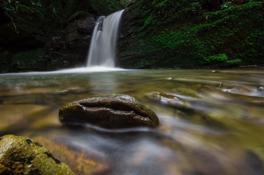 The peacefulness of watching a waterfall Water Waterfall Rock - Object Long Exposure No People Tranquility Scenics Nature Beauty In Nature Outdoors Motion EyeEmNewHere Flowing Water