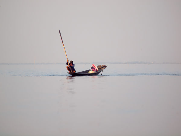 Beauty In Nature Calm Copy Space Day Horizon Over Water Inle Inle Lake Myanmar Nature Nautical Vessel Non-urban Scene Scenics Sea Shan State Tourism Tranquil Scene Tranquility Transportation Water Waterfront