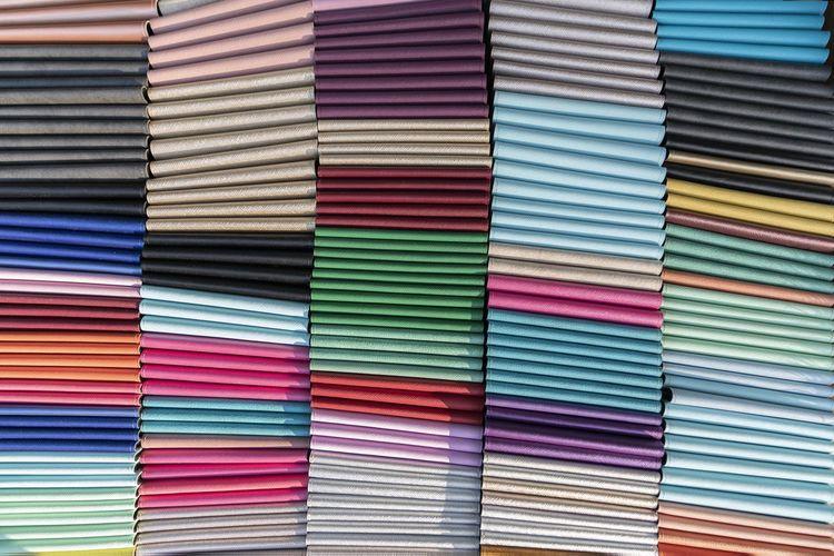 Full frame shot of multi colored files