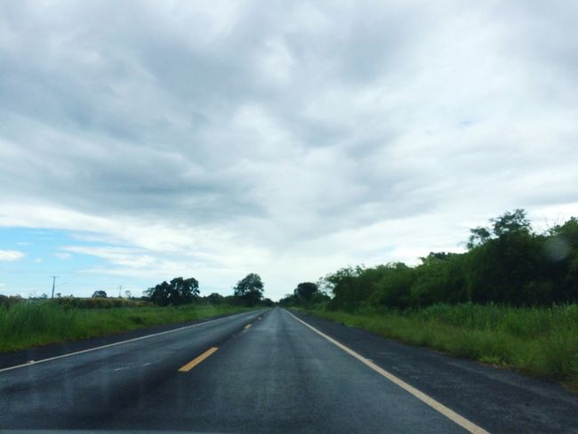 The Way Forward Diminishing Perspective Sky Transportation Road Tree Nature Car Landscape Cloud - Sky Day No People Long Tranquil Scene Countryside Outdoors Grass Scenics Beauty In Nature