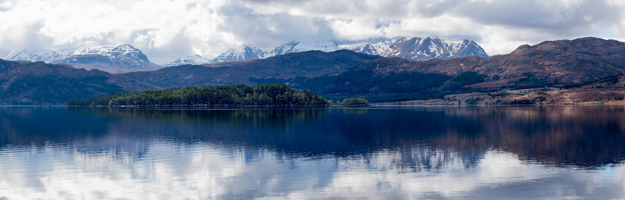 Loch Maree Scotland 💕 Beauty In Nature Cloud - Sky Environment Lake Landscape Mountain Mountain Peak Mountain Range Nature No People Outdoors Photo Merge Photography Panoramic Plant Reflection Scenics - Nature Sky Tranquil Scene Tranquility Water Waterfront Horizon Over Water Lakeside Idyllic Countryside Woods Growing Relaxed Moments Relaxing Moments Go Higher