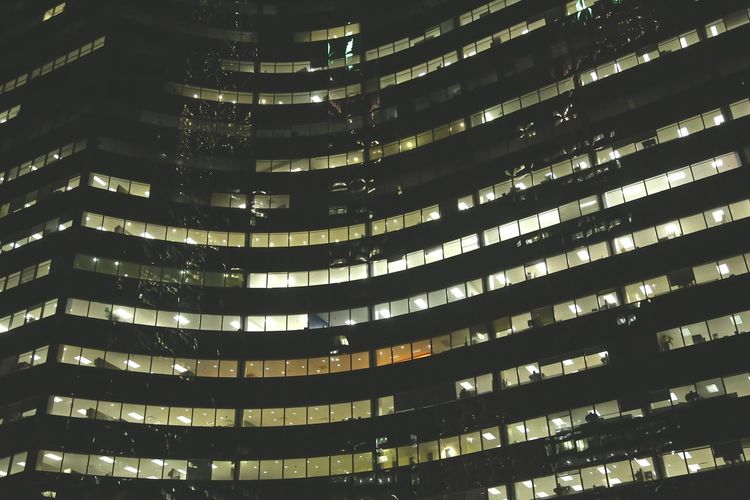 Architecture Backgrounds Building Built Structure City City Life Development Full Frame Growth Illuminated Low Angle View Modern Night No People Office Building Outdoors Skyscraper Tall - High The Architect - 2016 EyeEm Awards