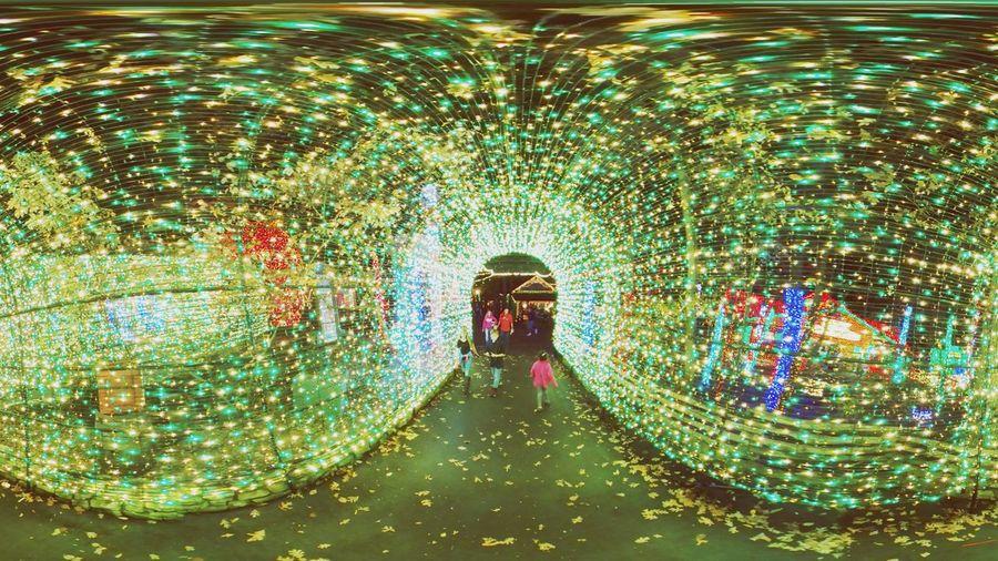 Multi Colored Fun Illuminated Outdoors Christmas Lights Christmas Lights ❄⛄ Lights Silver Dollar City Outdoors❤ Night Christmas Spirit Lights In The Night