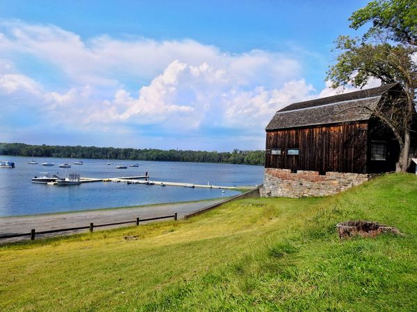 Blue Skies + Clouds Blue Skies Connecticut Connecticut River Connecticut Life Grass New England  Old Boat House Serenity Wethersfield Cove Blue Skies Blue Water Boats Cove Dock Fencing New England Charm New England Nature Old Building  On A Hill Overlooking The Lake Serene Serene Outdoors Serenity Nature_collection Water_collection Waterfront