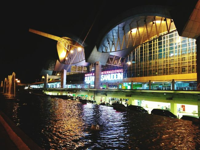 Night City Illuminated Modern Architecture Social Issues No People Outdoors Sultan Hassanudin International Airport Looking Away Meeting Point Remembering This Moment Waiting Night View Welcome Back  Go Home Beutiful  Beautiful View Beutiful Place  The City Light