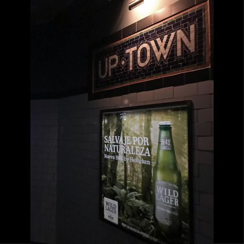 UpTown Bar Entrance Cellularphotography No People Metro Beer Poster Low Light Uptown Buenosaires Bar
