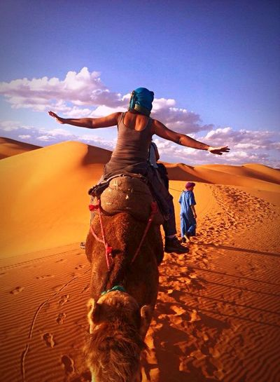 Self Portrait Around The World Marocco Camel Riding Saarahdesert Myself Around the world. Adventure Club
