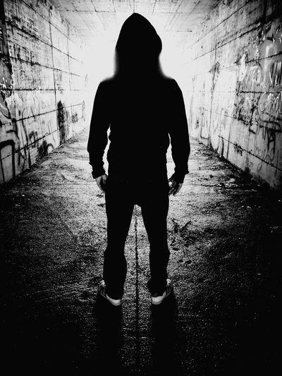 Spooky Tunnel Lightattheendofthetunnel B&w Blackandwhite Hope