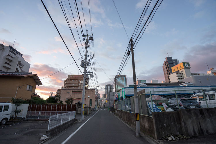Buildings Cable Early Morning Electricity  Electricity Pylon EyeEm Houses Life Miyagi Residential District Sendai Street