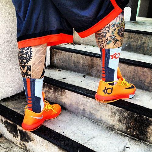 READY PAL WORK!!! KD6 KD Kdsocks Nikeshort kdorange kd35 teamnike