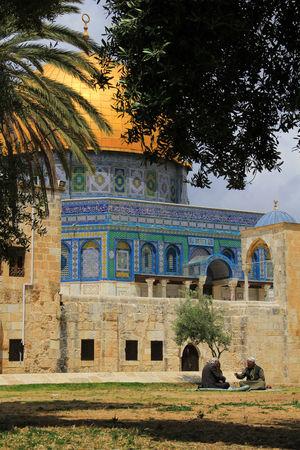 ALAQSA Alaqsamosque Arch Architecture Building Exterior Built Structure Day Holy Land Islam Islamic Architecture Jerusalem Men No People Outdoors Place Of Worship Sky Tree