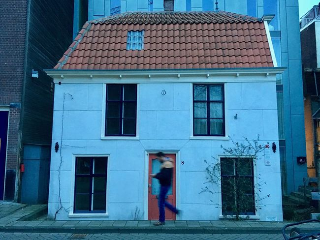 Eight Amterdam Architecture Building Exterior Built Structure City, House, Mailman Netherlands, Old House, Scary One Person Outdoors People Real People