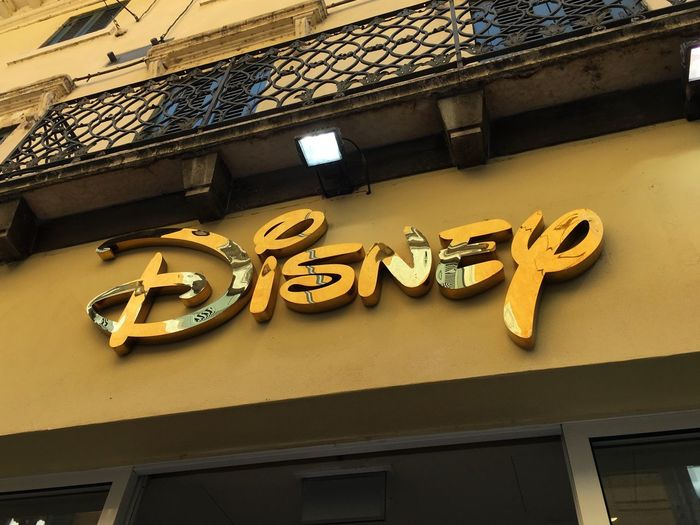 Disneystore! 🙃 Architecture Built Structure Text Building Exterior Western Script Non-western Script Communication Low Angle View Yellow Outdoors Day Railroad Station No People Façade Disney Disneystore Disneyland DisneyWorld Toy Toys
