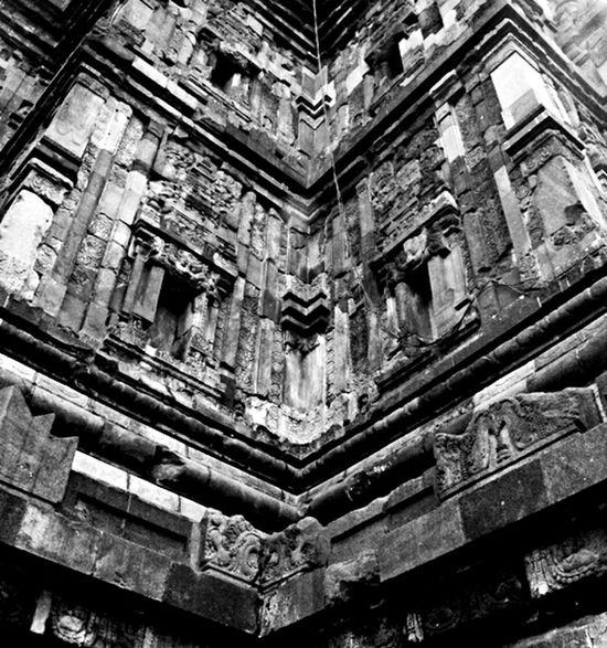 Prambanan Temple. Hindu Temple Monochrome Wonderful Yogyakarta Blackandwhite