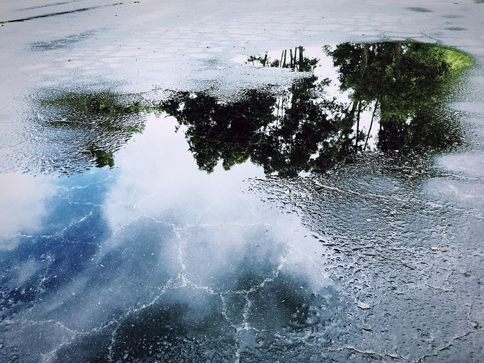 Street Puddles Reflection Reflections In The Water Street Photography Street Reflections Urban Landscape Urbanphotography Urban Reflections Water H20 Wet Slick Rain Puddle  Puddleography IPhoneography Northern California Mendocinocounty Ukiah