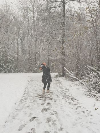 magical snow ♡ Snow Winter Cold Temperature One Person Full Length Real People Outdoors Snowing Day Nature