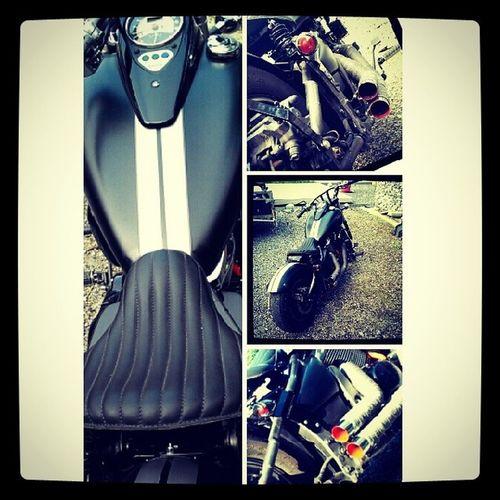 Bluecollardbobber Badass Motorcycle MatBlack Kawasaki Killers Chopper Custom