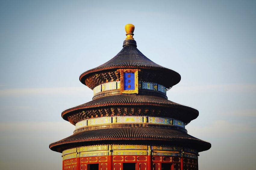 Architecture History Built Structure Sky Travel Destinations Building Exterior Dome Roof Low Angle View Outdoors Cityscape China Culture Traditional Architecture Traditional Building Beijing, China Old Architecture FUJIFILM X-T10 Temple Of Heaven Park Old Building  Warm Winter Light And Shadow King - Royal Person Tourism Royalty China View