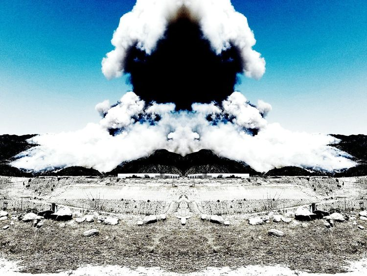 Fire forest explosion Sky Cloud - Sky Nature Outdoors Day Digitally Generated No People Erupting
