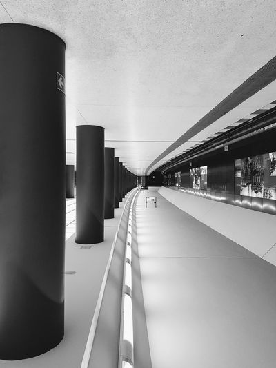 One of the three stations of the shortest subway of Berlin... Architecture The Vanishing Point Special View My Sunday Flip Subway Station Welcome To Black Transportation Black & White No People Perspectives