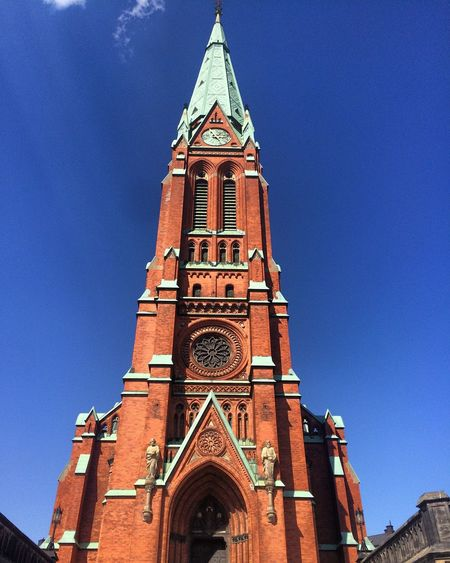 St Johannes Cathedral Church Beautiful Stockholm Sweden Bluesky