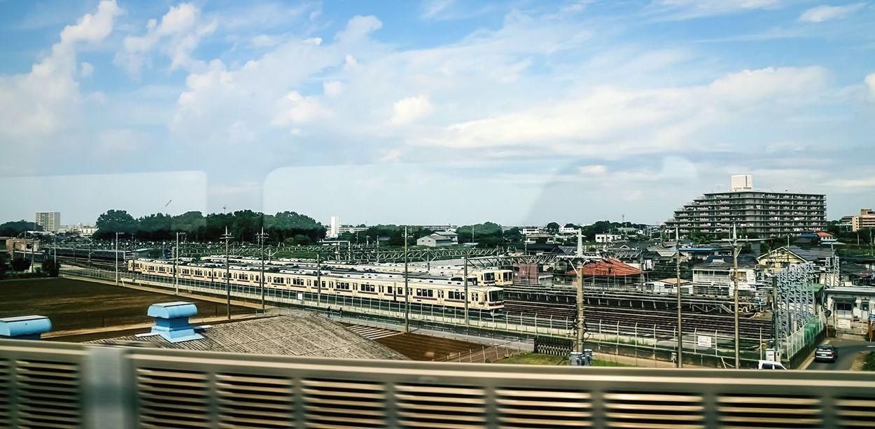 Learn & Shoot: Leading Lines Bullet Train Views From Windows From Window High Train Train Tracks Train Ride Train Rail EyeEm Best Edits Railway