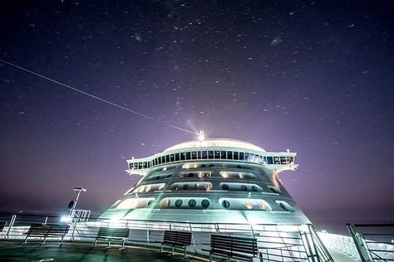 Loving the stars on the RoyalCaribbean Explorer of the Sea. Exploreroftheseas Royalcaribbeanexplorerofthesea Night Stars Nofilter Travelphotography Travel Noelwongphotography Noedit Longexposure NikonD800 DSLR